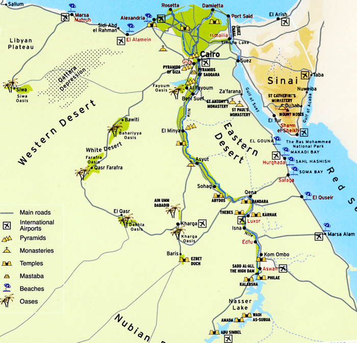 Map Of Egypt Stylish Holidays Egypt